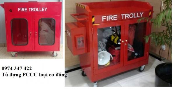 tủ đựng thiết bị PCCC di động fire trolley