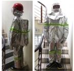 Quần áo chống cháy tráng bạc KTFS500 Hàn Quốc